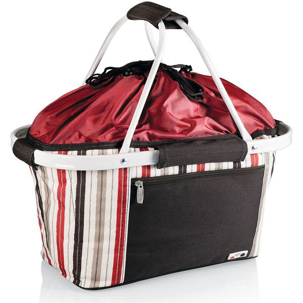 Picnic Time Metro Basket ($40) ❤ liked on Polyvore featuring home, kitchen & dining, food storage containers, collapsible basket, pic nic basket, picnic baskets, picnic time baskets and collapsible picnic basket