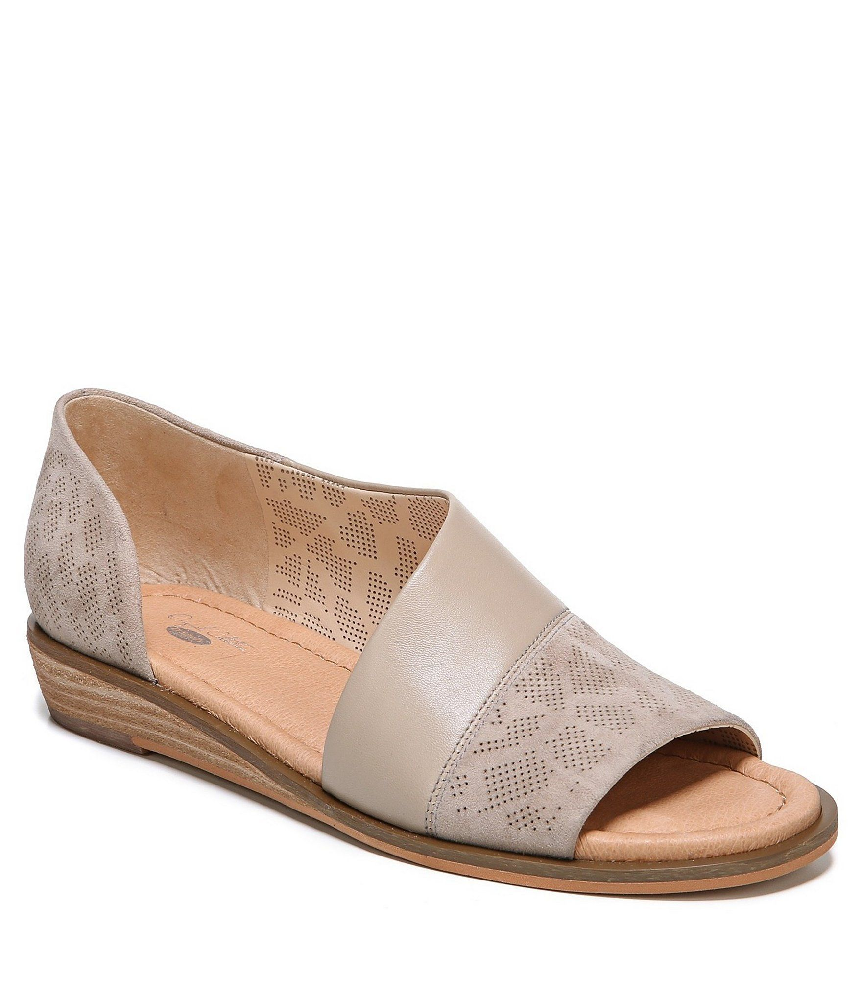 Fresco Suede and Leather Slip-On Flats 4IbGv