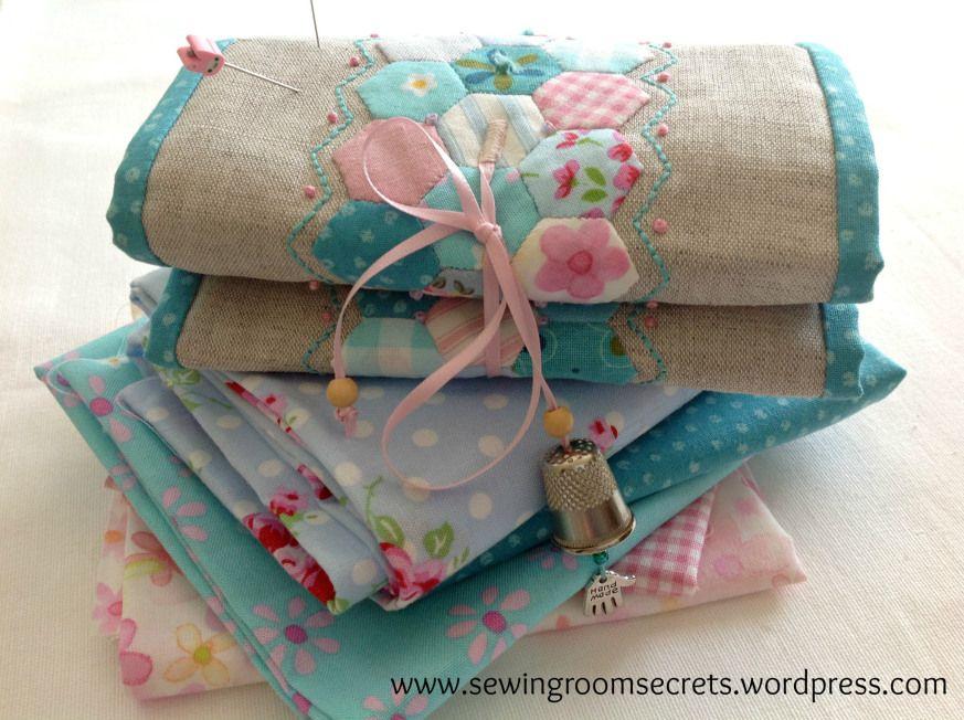 Needlebook on fabric pile