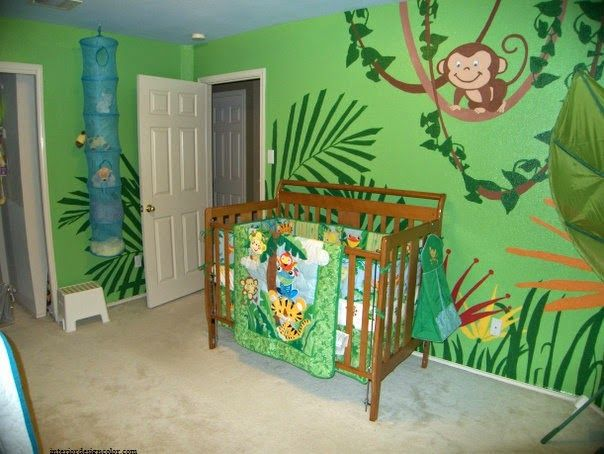 id e d co chambre b b jungle actual boys room. Black Bedroom Furniture Sets. Home Design Ideas