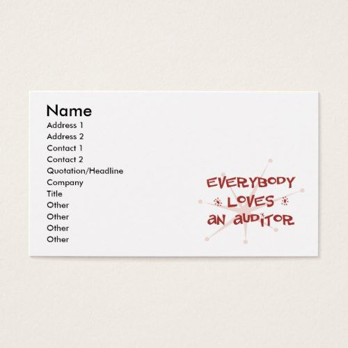 Everybody Loves An Auditor Business Card Auditor Pinterest - audit quotation