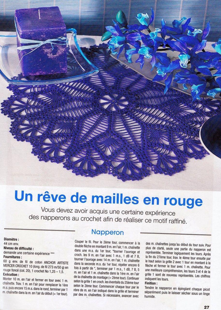 27.jpg | Crochet Doily & Motifs | Pinterest | Carpeta, Mantel y ...