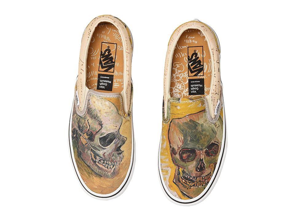 Vans Ua Classic Slip On Shoes Vincent Van Gogh Skull True White Vans Shoes Vans Sneakers