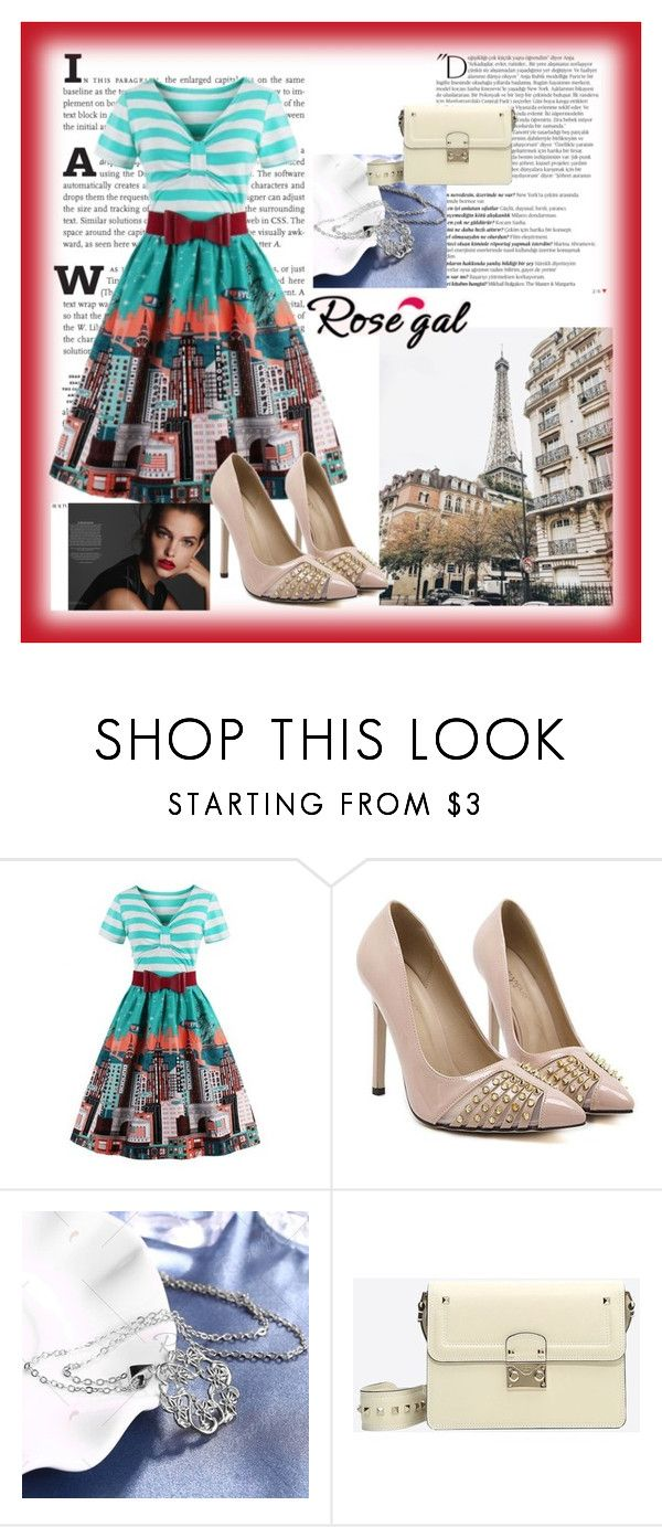 """""""Rosegal 85"""" by divi121314 ❤ liked on Polyvore featuring Balmain, Valentino, vintage, dress, women and rosegal"""