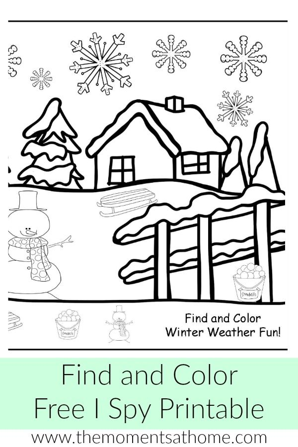 free winter weather i spy printable moments at home weather activities for kids craft. Black Bedroom Furniture Sets. Home Design Ideas