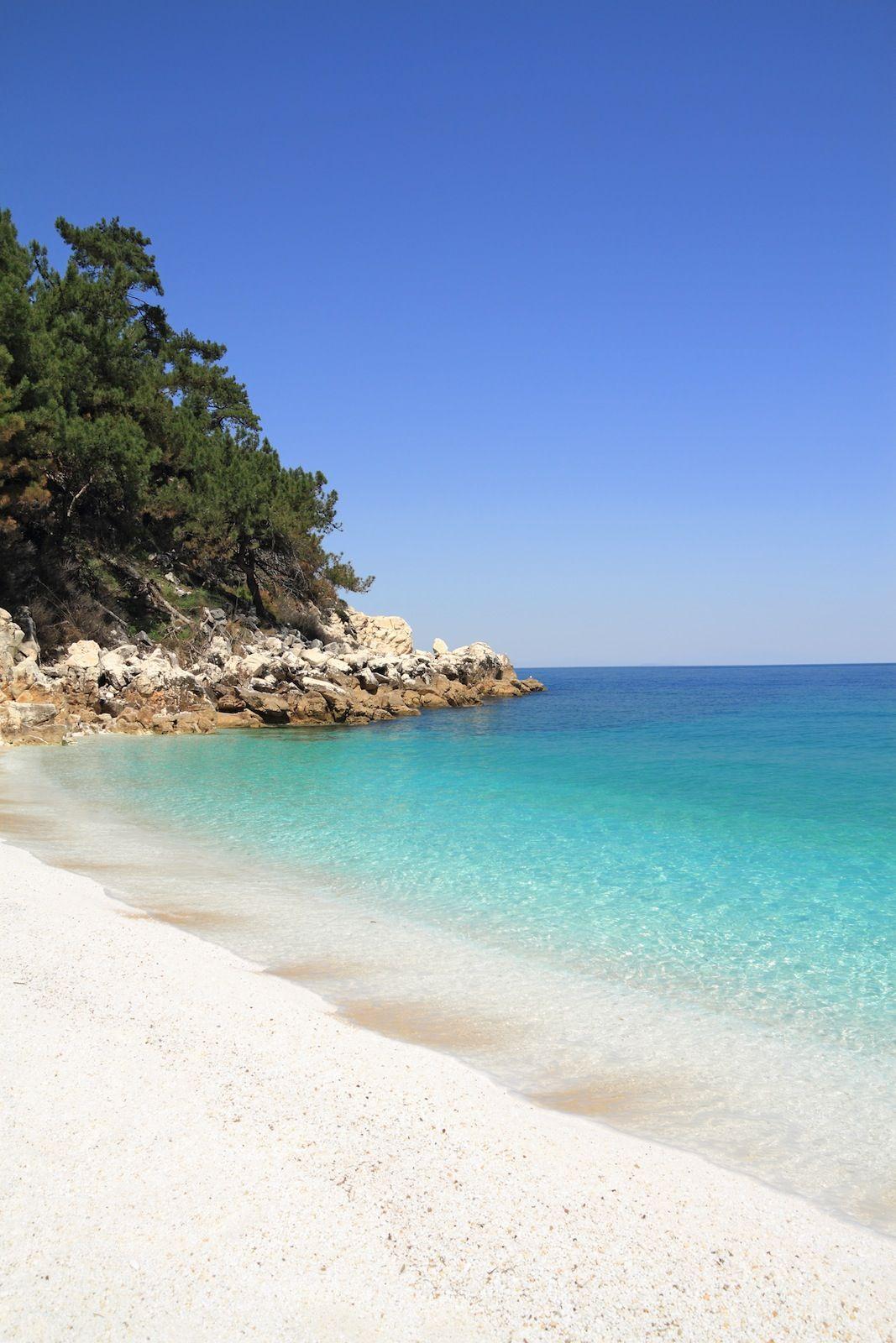 Marmara (Marble) beach, on Thasos island