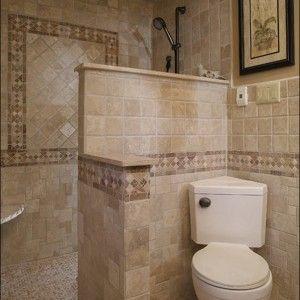 Interesting Walk In Shower Designs No Glass Nice Design