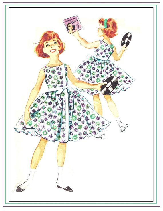 McCall's 5017 Vintage 50s Lovely Girl's Party or by PatternPlaying, $14.00