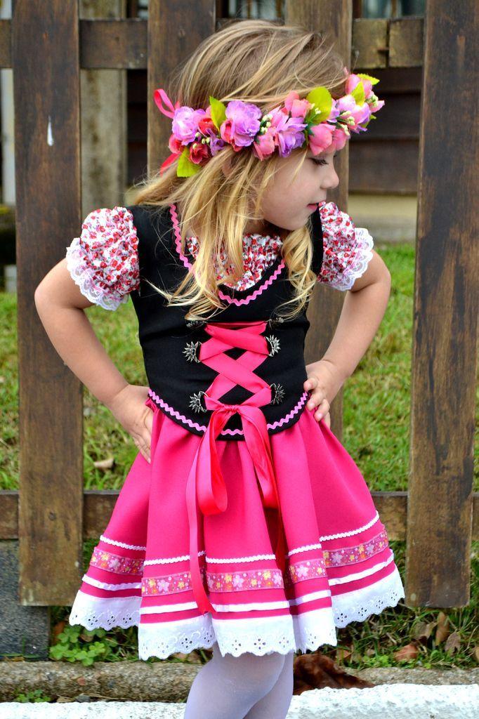 Traje Típico Alemão Pink - INFANTIL - Cristina Store  76156e35b82