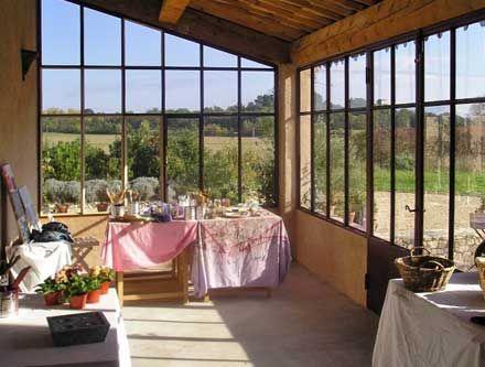 toit en tuiles style ateler | Veranda bioclimatique, Veranda, Veranda cuisine