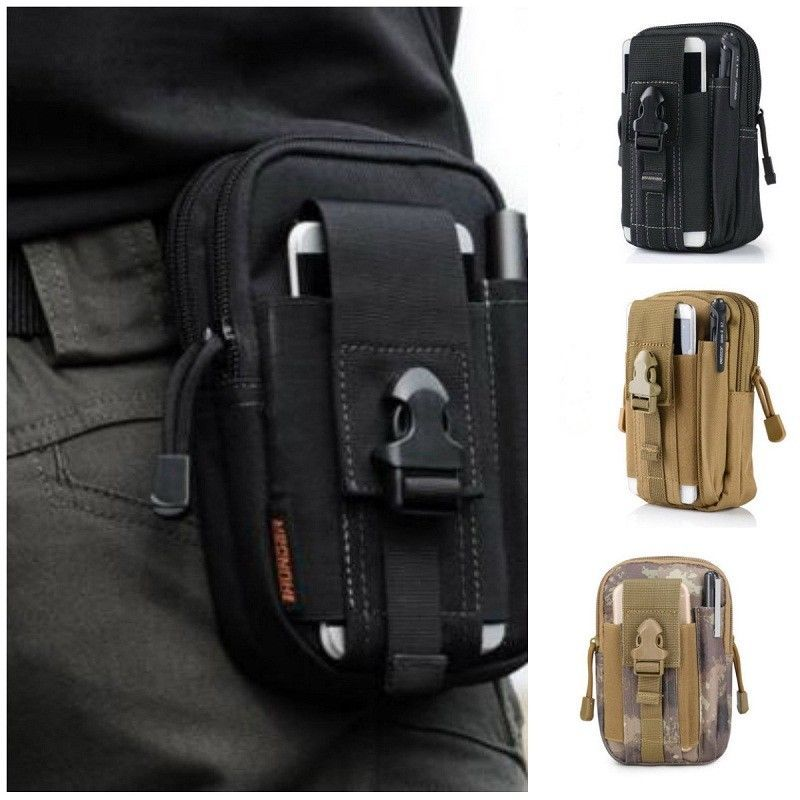 Tactical Waist Pack Belt Men Bag Camping Outdoor Hiking Military Pouch Wallet UK