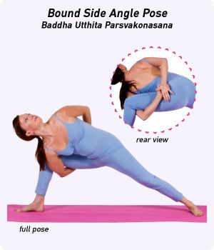 how to do bound extended side angle pose in yoga  side