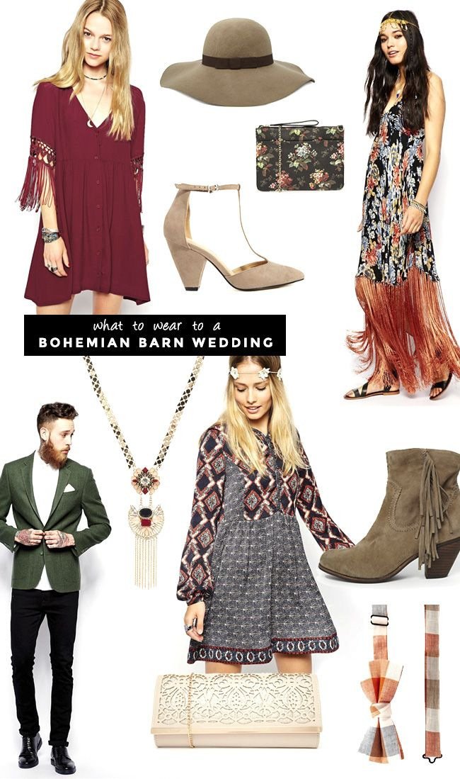 What To Wear A Boho Barn Wedding