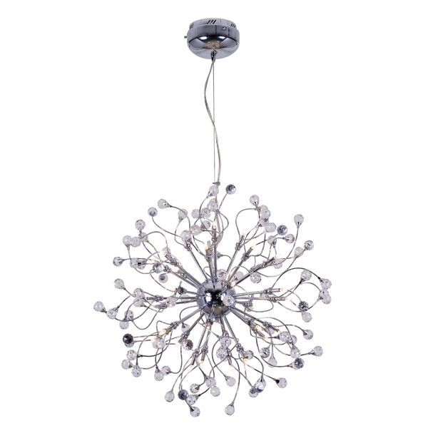 Krysta 32 Light Pendant In Chrome With Crystals Lights And