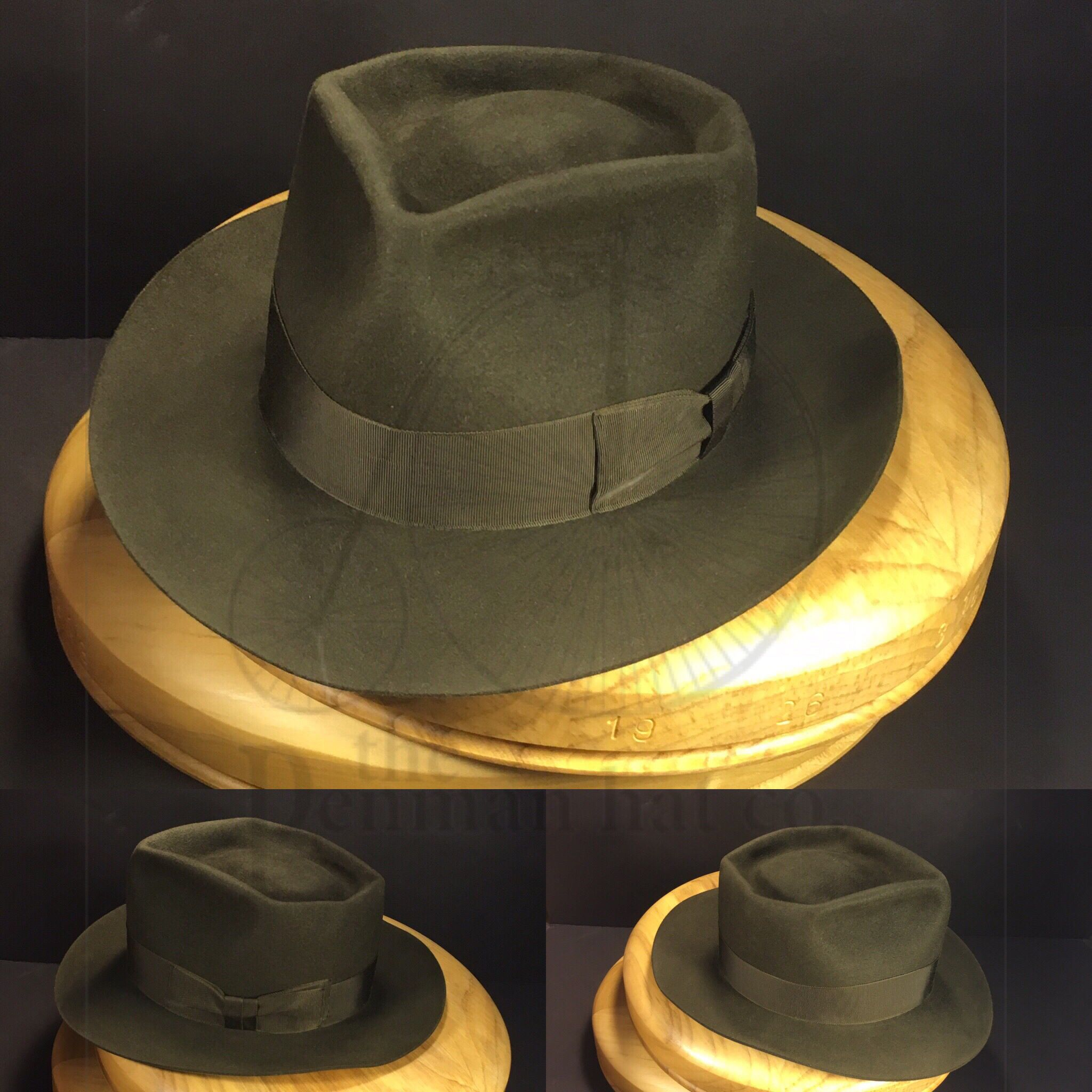 a3f9247222e3b Just finished this 6 point diamond dark moss bespoke fedora with vintage  matching grosgrain ribbon.
