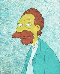 Simpson Van GoG | cool freaky stuff | Simpsons art, Famous