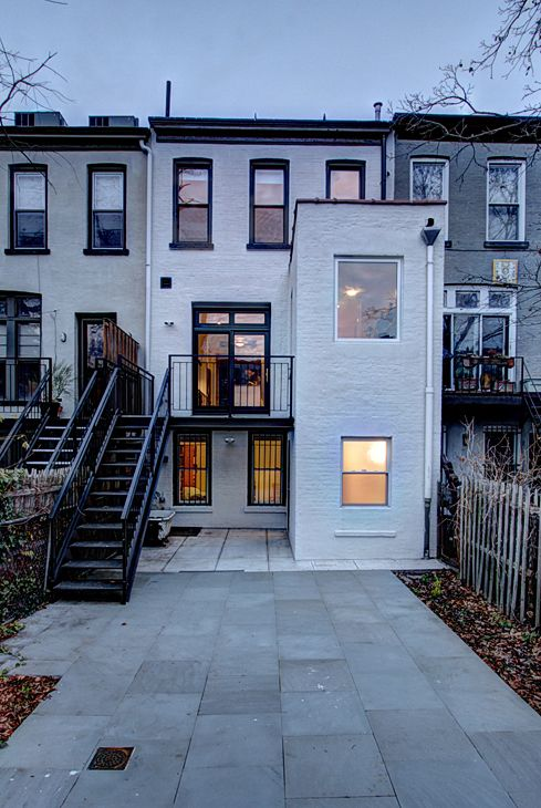 Back of brownstone renovation in Park Slope, Brooklyn by Ben Herzog Architect.