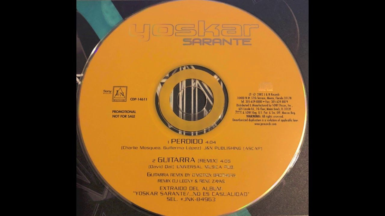 Yoskar Sarante - Guitarra (Remix) (2002) | Music Stuff