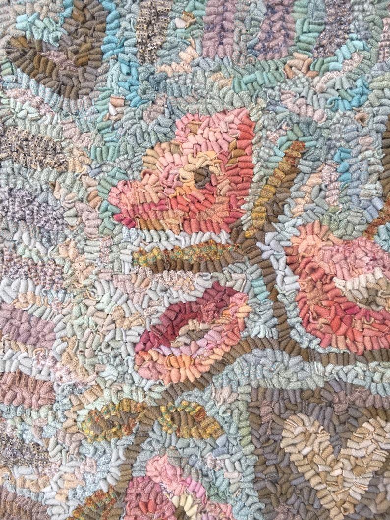 Northwestfolkdesign Hand Hooked Rug Prairie Rose Pattern By Etsy In 2020 Rug Hooking Patterns Hooked Rugs Primitive Rug Hooking Patterns Primitive