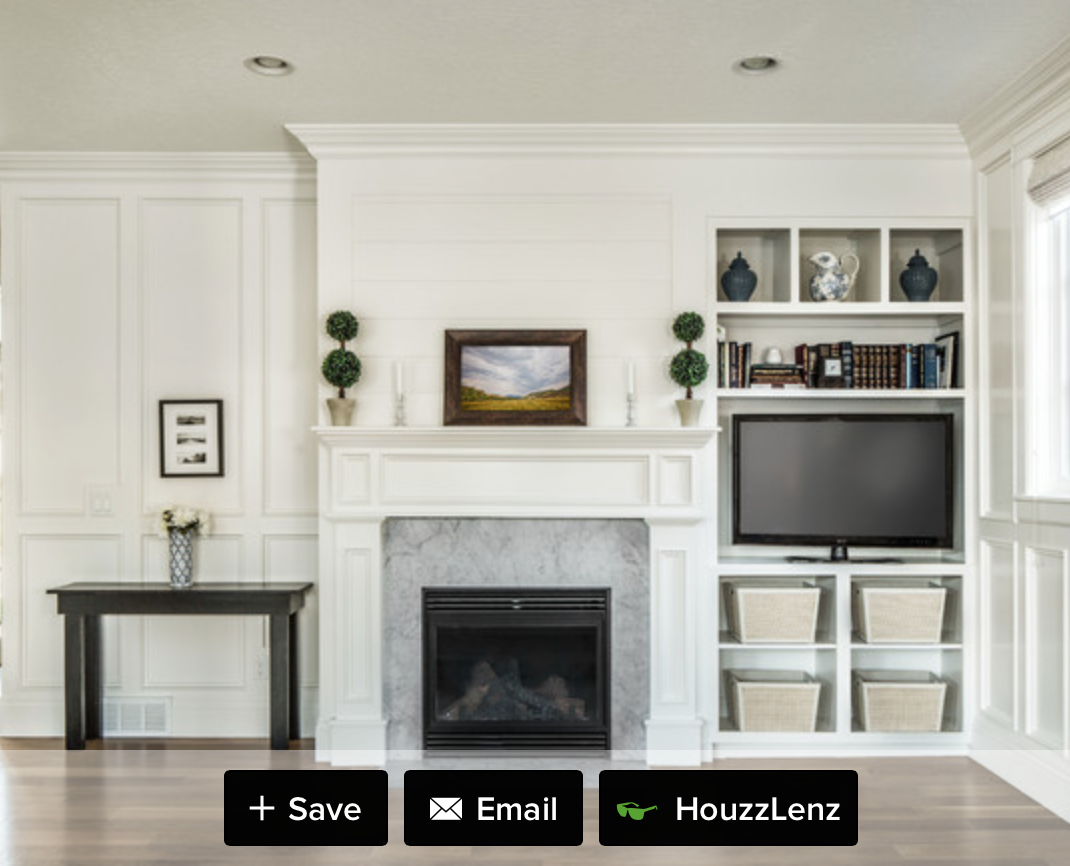 Fireplace With Asymmetrical Cabinetry Fireplace Stays Focal Point