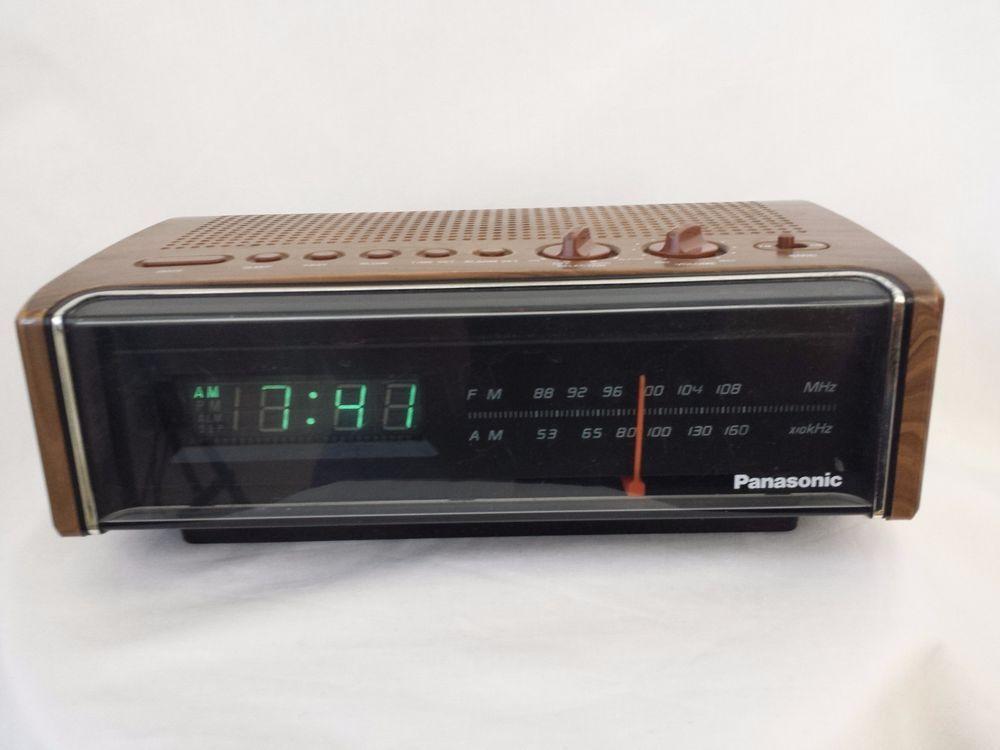 Vintage Panasonic Rc 75 Digital Clock Radio Wood Grain Am Fm Digital Clock Radio Vintage Radio Hifi Audiophile