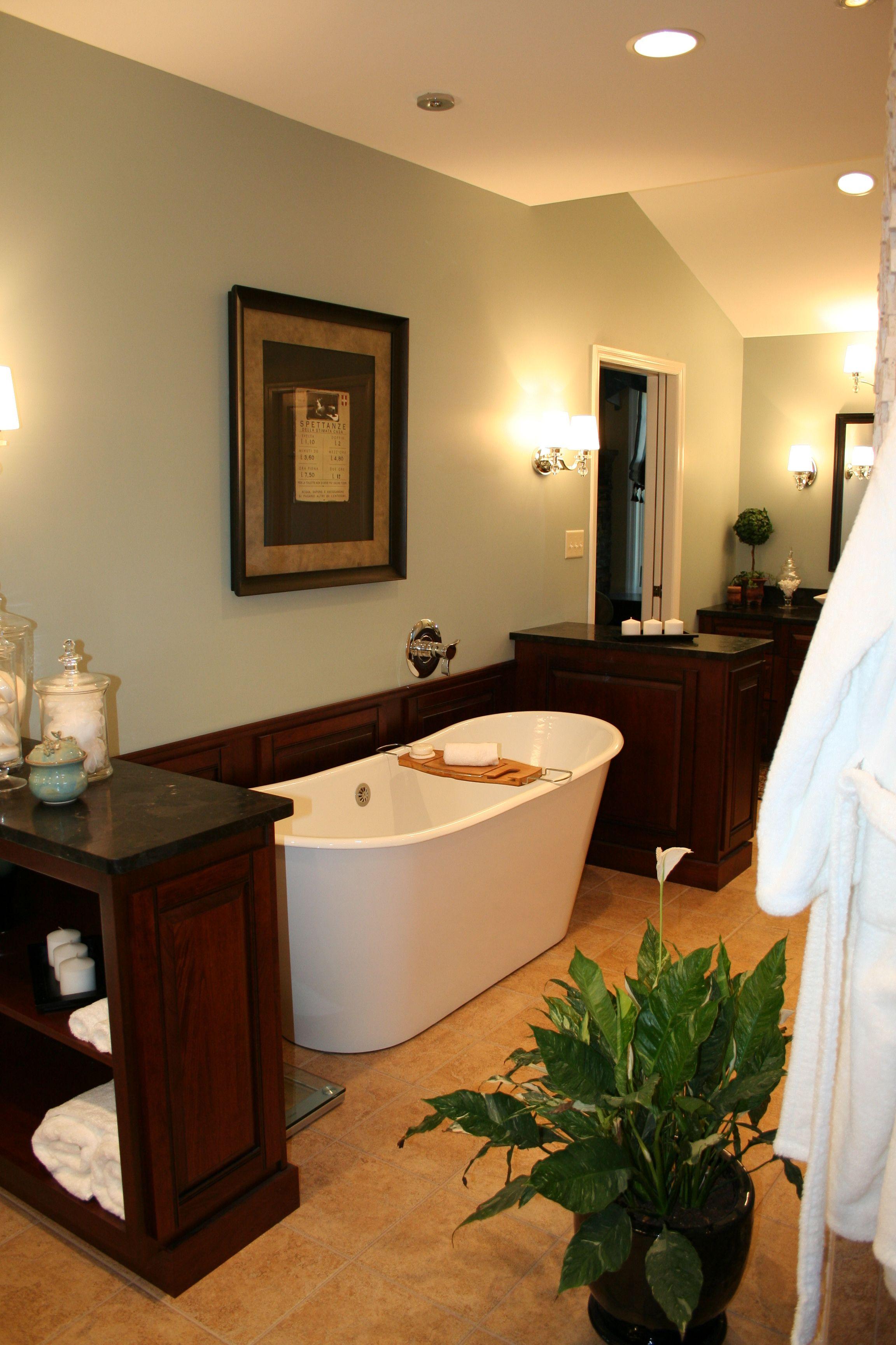 Design By Lissa Semic, SEDI Design Studios. Master Bath. Cheviot Cast Iron  Tub