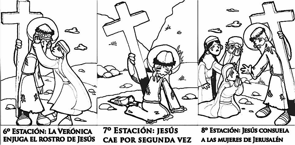 Via Crucis Para Colorear Pdf Via Crucis Para Colorear Catequesis De