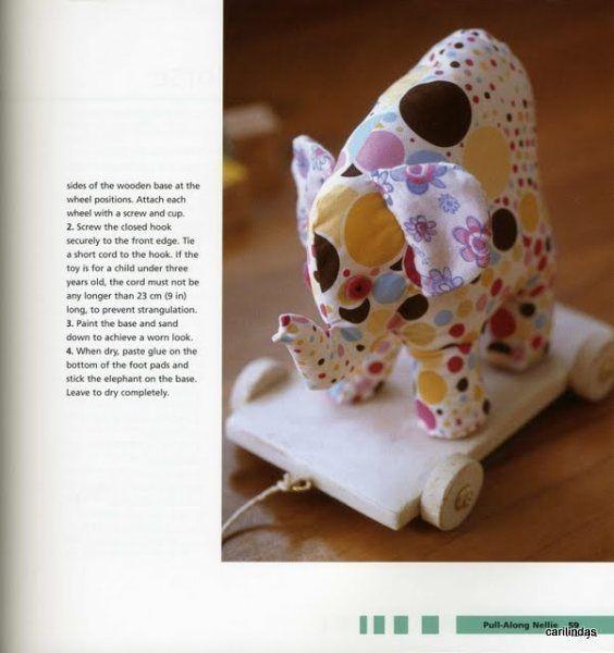 Moldes Para Artesanato em Tecido: Elefante com moldes