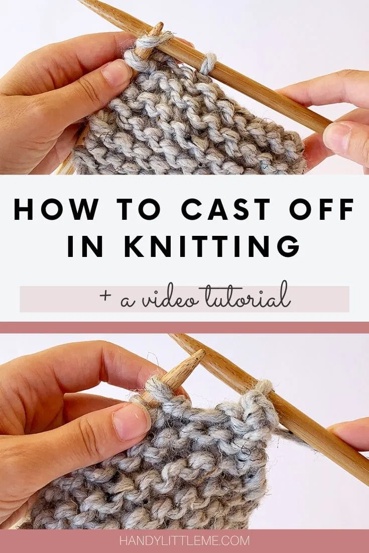 How To Cast Off In Knitting Video Tutorial In 2021 Casting Off Knitting Knitting Videos Tutorials Knitting Basics