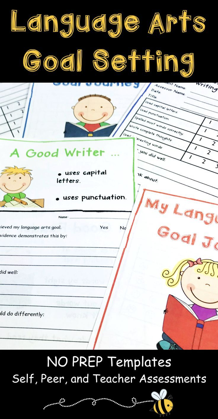 Language Arts Goal Setting Assessment and Goal Setting