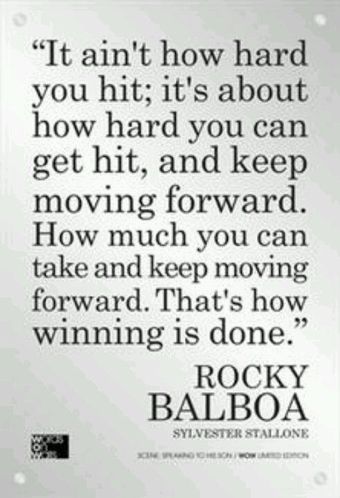Thats How Winning Is Done Rocky Balboa Strong Keepgoing