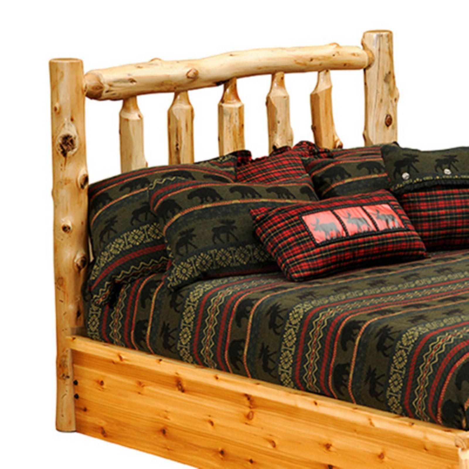 Fireside Lodge Cedar Log Bed, Size California King