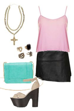 Miss High Street - High Street's Hottest - Leather skirt