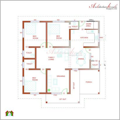 Kerala House Plans Free Pdf House Plans With Photos Kerala House Design House Floor Plans Modern house plan and elevation pdf