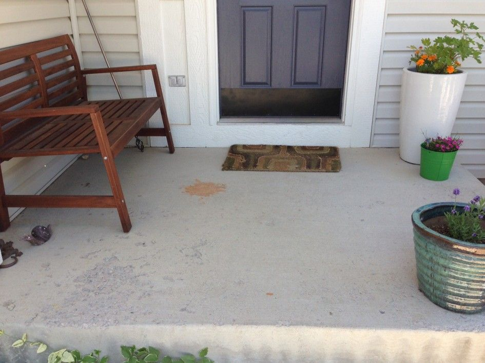 white grey exterior paint concrete patio on light grey exterior