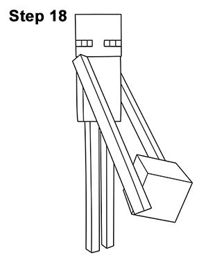 How To Draw An Enderman Minecraft Kunst Vorlagen