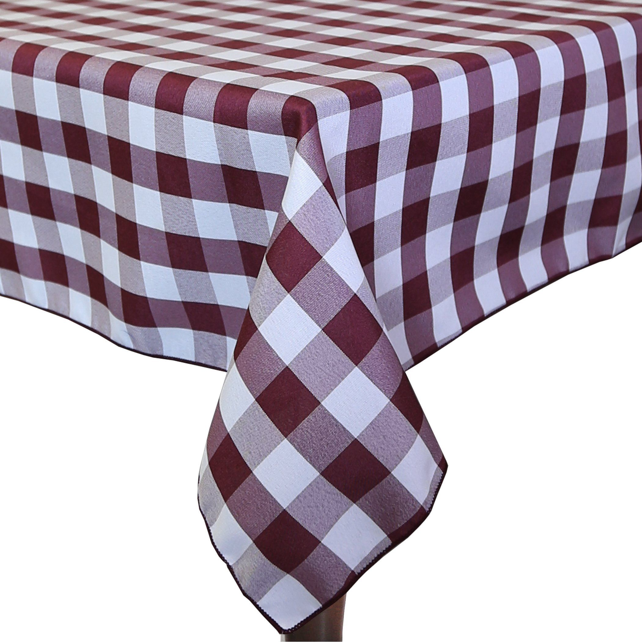 Ultimate Textile 5 Pack 54 X 54 Inch Square Polyester Gingham Checkered Tablecloth For Picnic Outdoor Or Ultimate Textile Checkered Tablecloth Table Cloth