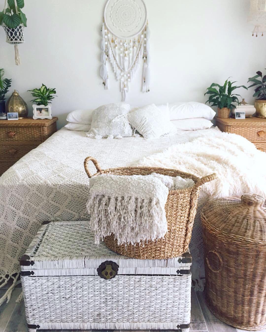 Ordinaire Home Renovation Bedroom Crochet Throw Basket Peace Lily Cane Furniture Boho  Bohemian Style Instagram: Sian____