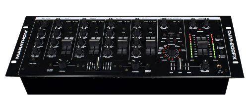 marathon djm 200fx 4 channel 19 inch mixer vocal effects 5 line inputs 3 phono 5 mics eq on. Black Bedroom Furniture Sets. Home Design Ideas