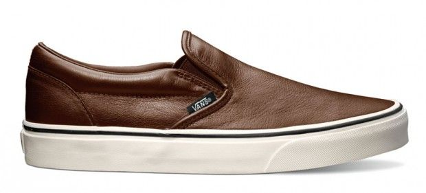 "Made my choice - Vans Classics Slip-On ""Aged Leather"" Brown"