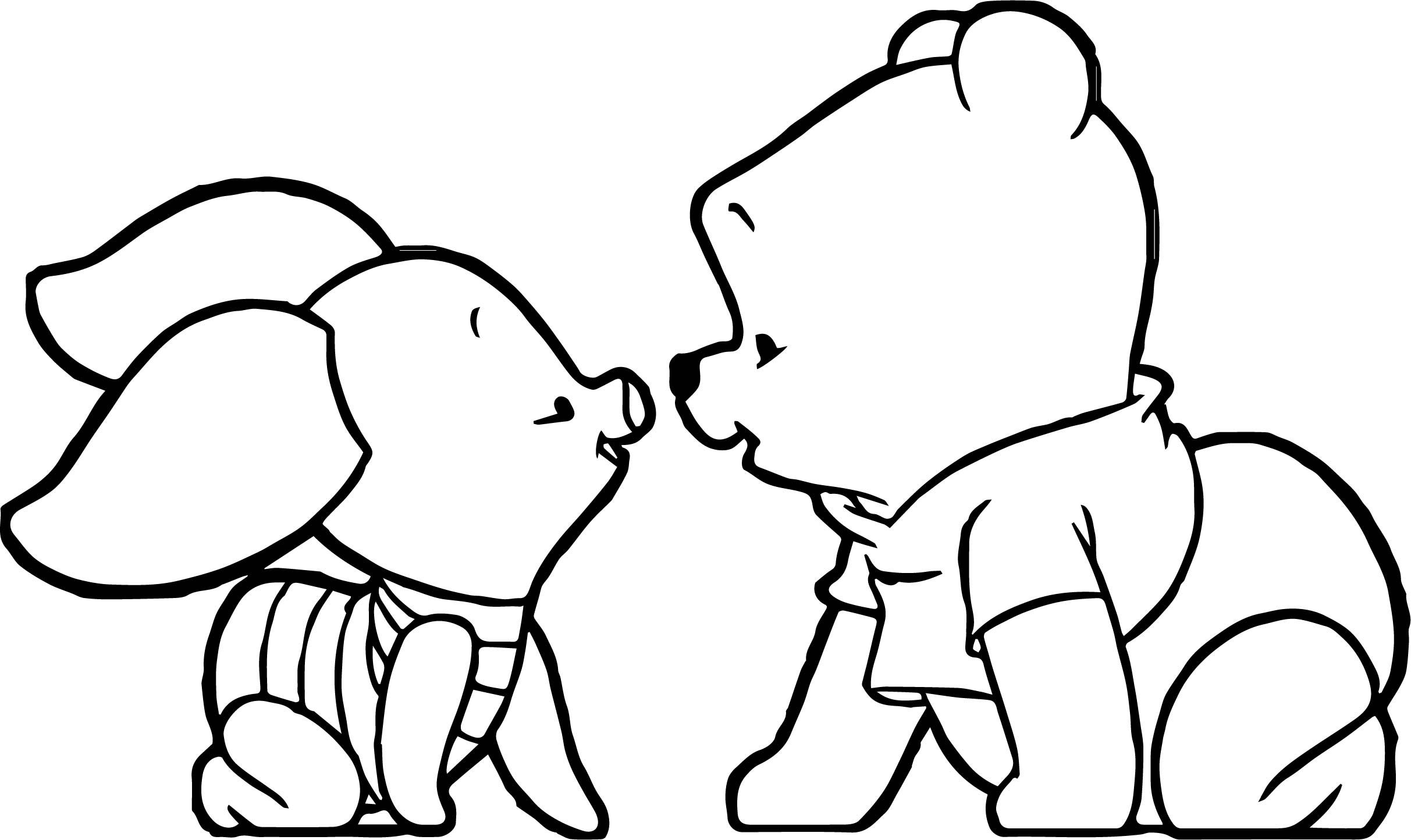 Baby Pooh Piglet Coloring Page Winnie The Pooh Drawing Cute Winnie The Pooh Whinnie The Pooh Drawings