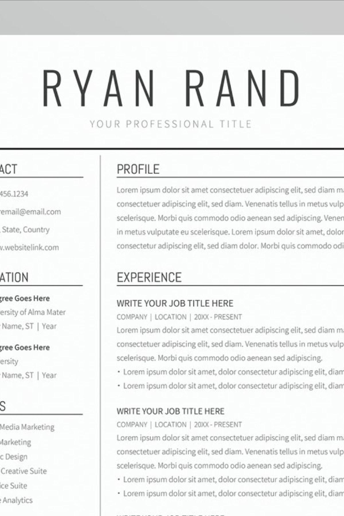 23+ Professional resume template free google docs Resume Examples