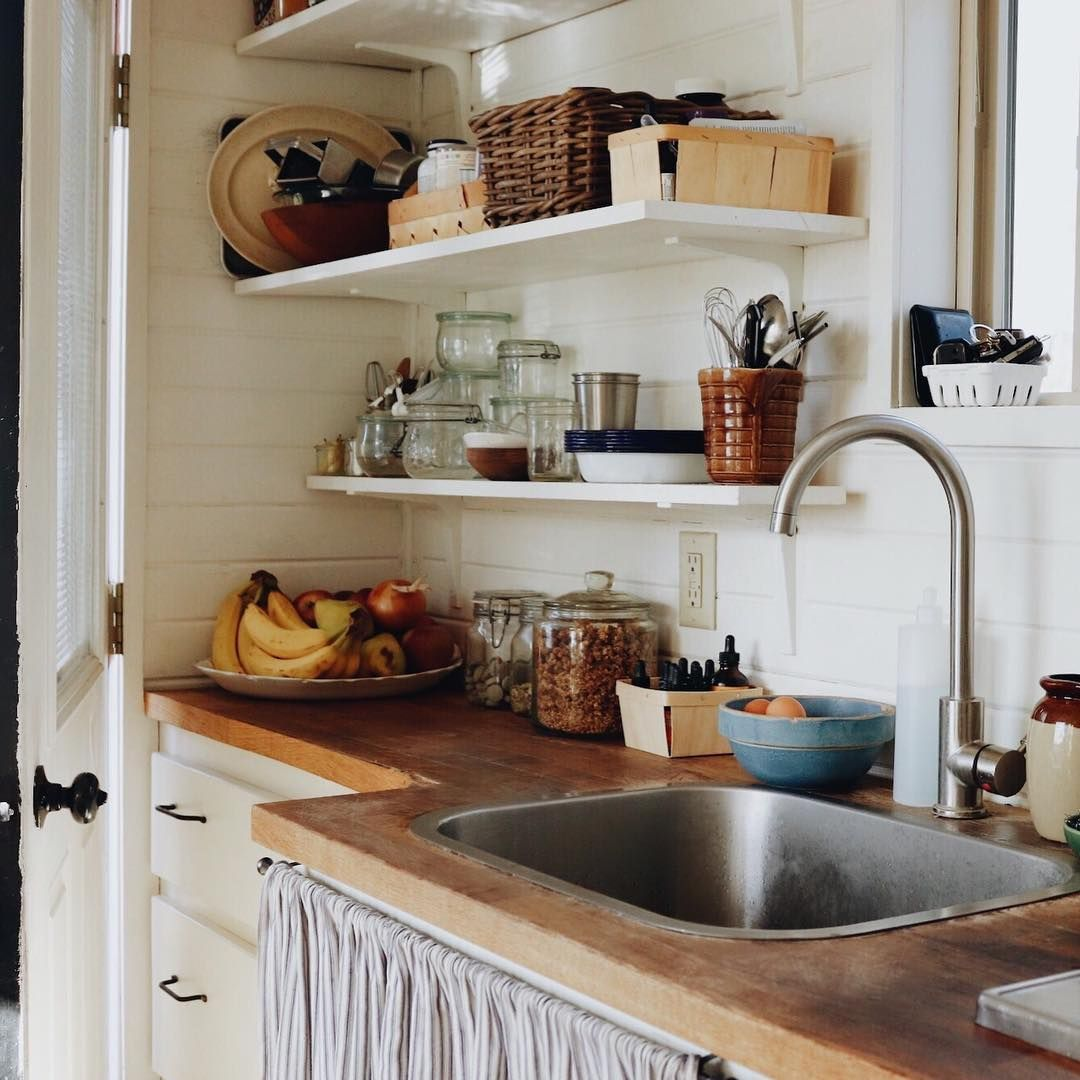 Fawn Forest Summer Robertson On Instagram Tiny House Tour Part 1 The Kitchen After Posting A Photo Of Our Tiny H Kitchen Design Coastal Kitchen Kitchen