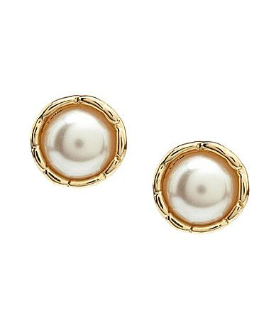Cezanne Pearl Cap Post Earrings #Dillards