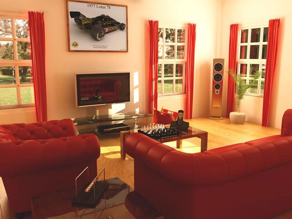 Delightful Decorate Living Room With Red Sofa 2 Nice Ideas