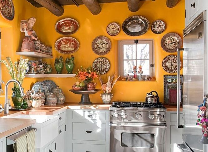 Mexican Kitchen Decor With Decorative Wall Plates Decolover