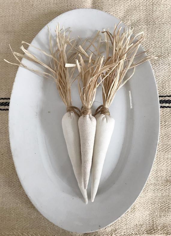 Photo of 3 fabric carrots