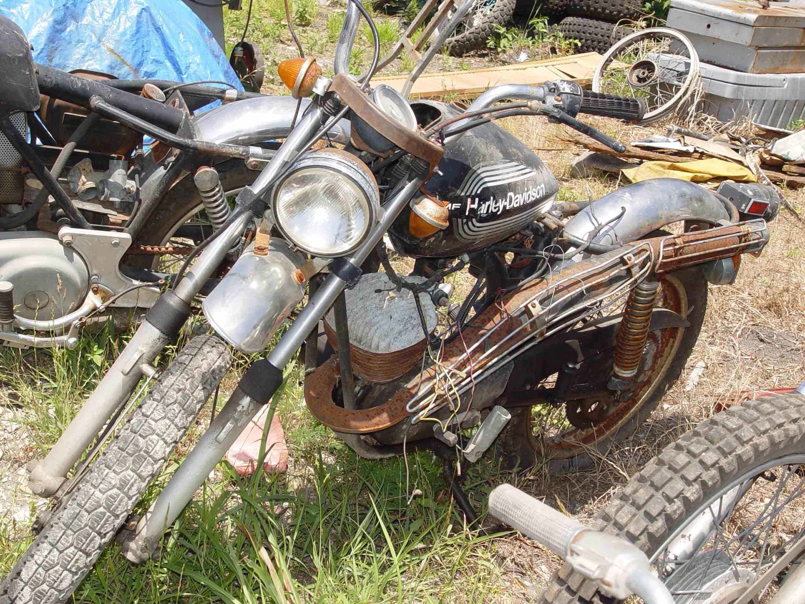 images of japanese scrap yards | harley davidson parts salvage