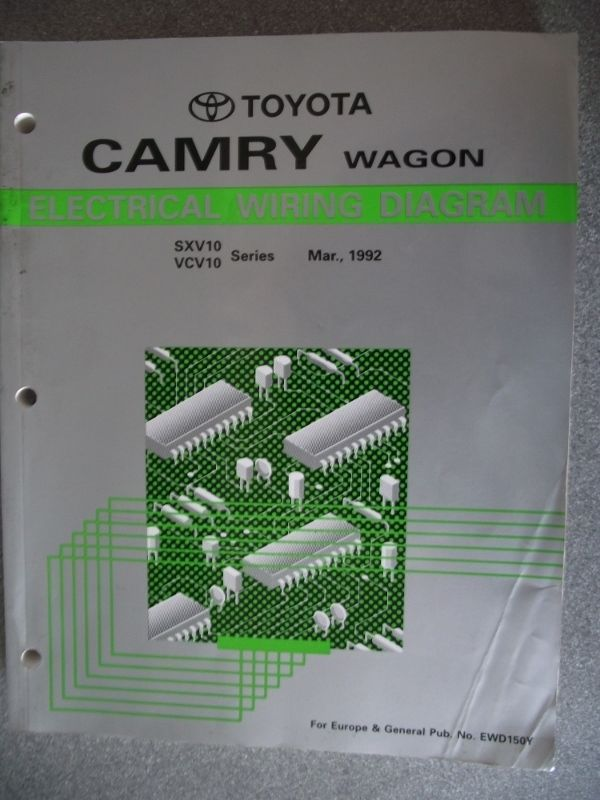 Toyota Camry Wagon Electrical Manual 1992 Ewd150y  With Images
