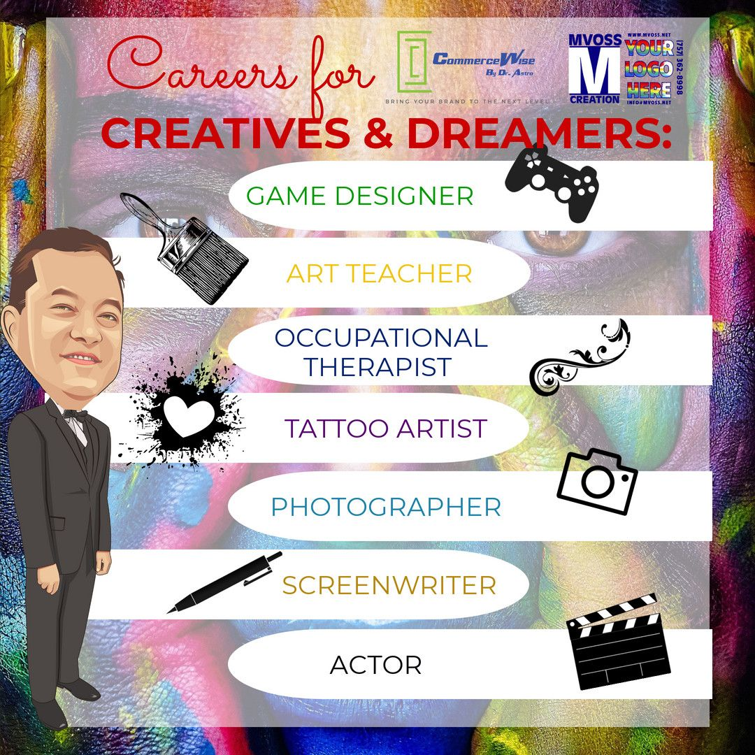 Top 10 Creative Jobs That Pay The Bills (What Can you Add